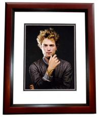 Robert Pattinson Signed - Autographed Sexy 8x10 Photo - TWILIGHT Actor - MAHOGANY CUSTOM FRAME