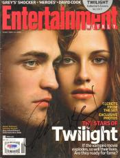 ROBERT PATTINSON & KRISTEN STEWART Signed TWILIGHT Magazine PSA/DNA #V51115