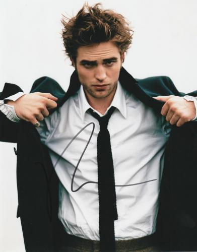 Robert Pattinson Signed 8x10 Photo Twilight Autograph Edward Cullen Coa F