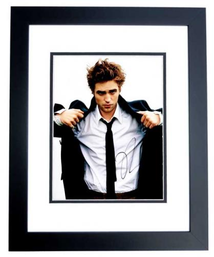 Robert Pattinson Signed - Autographed TWILIGHT Actor - Team Edward 8x10 inch Photo BLACK CUSTOM FRAME - Guaranteed to pass PSA or JSA