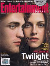 Robert Pattinson signed Twilight Entertainment magazine PSA/DNA Coa J42363