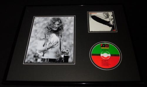Robert Plant 16x20 Framed Led Zeppelin CD & Dove Photo Display