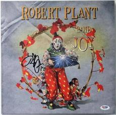 Robert Plant Band Of Joy Signed Album Cover W/ Vinyl Autographed Psa/dna #w46826