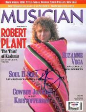 Robert Plant Certified Authentic Autographed Signed Magazine PSA/DNA