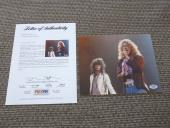 Robert Plant Jimmy Page Led Zeppelin Signed Autograph 8x10 Photo PSA Certified 2