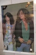 Robert Plant Jimmy Page Vintage 23x35 Poster Authentic Original Rare