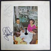 Robert Plant & John Paul Jones Signed Led Zeppelin Album Cover PSA/DNA #AB08251