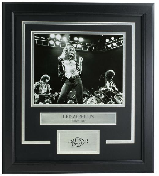 Robert Plant Led Zeppelin Framed 8x10 Photo w/Laser Engraved Signature