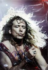 Robert Plant Led Zeppelin Signed 12x17 Photo Autographed BAS #C54110