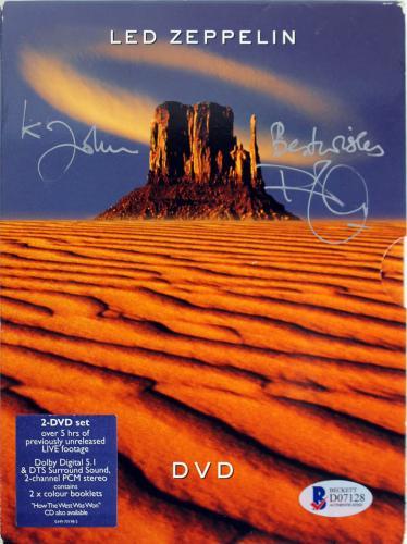 Robert Plant Led Zeppelin Signed 2003 2 Disc Live Performance DVD BAS #D07128