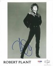 Robert Plant Led Zeppelin Signed 8x10 Photo Psa/dna #u65935