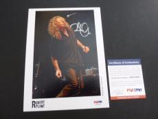 Robert Plant Led Zeppelin Signed Autographed 5x7 Photo PSA Certified