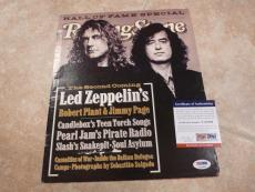 Robert Plant Led Zeppelin Signed Rolling Stone Cover Photo PSA Certified