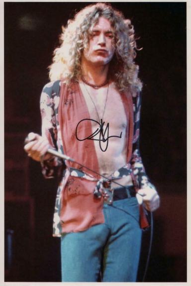 Robert Plant Signed Autograph 8x12 Photo - Led Zeppelin Ii Iii Singer, Real Coa
