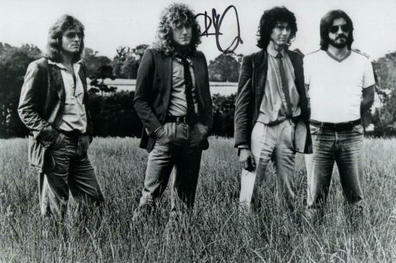Robert Plant Signed Autograph 8x12 Photo - Led Zeppelin Legend W/ Bonham & Page