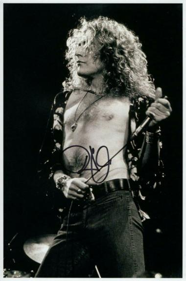 Robert Plant Signed Autograph 8x12 Photo - Shirtless Led Zeppelin Singer, Real