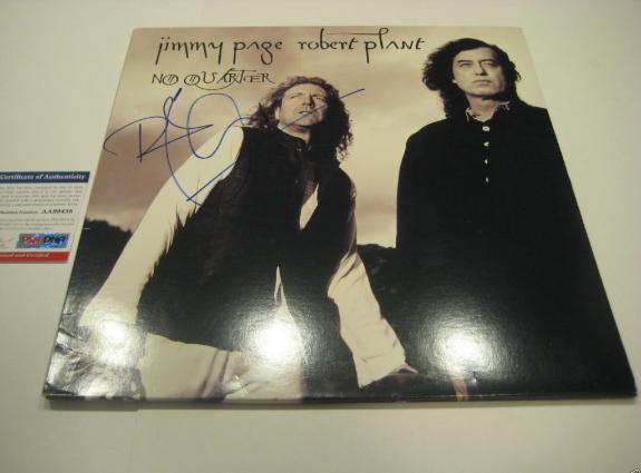 ROBERT PLANT Signed NO QUARTER Album w/ PSA COA