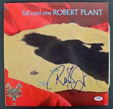 Robert Plant Signed 'Tall Cool One' Album Cover W/ Vinyl PSA/DNA #AB81050