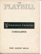 Robert Ryan Jack Klugman Jerry Stiller Gene Saks Coriolanus 1954 Playbill