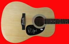 Robert Smith The Cure Signed Acoustic Guitar PSA/DNA #X31574