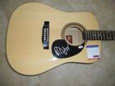 Robert Smith The Cure Signed Autographed Acoustic Guitar PSA Certified