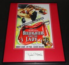 Robert Stack Signed Framed 16x20 Photo Poster Display Bullfighter & The Lady