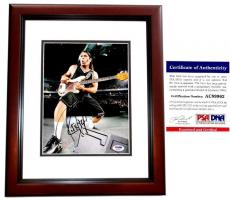 Robert Trujillo Signed - Autographed METALLICA 8x10 inch Photo with PSA/DNA Certificate of Authenticity (COA) MAHOGANY CUSTOM FRAME - Heavy Metal Bassist