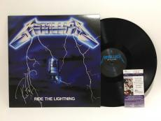 Robert Trujillo Signed Ride The Lightning Metallica Album JSA Coa