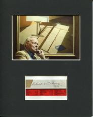 Robert Vickrey Famous Egg Tempera Artist Rare Signed Autograph Photo Display