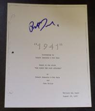 "Robert Zemeckis Signed Autograph ""1941"" Director Rare Full Movie Script + Coa"