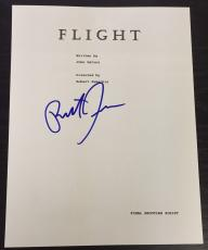 "Robert Zemeckis Signed Autograph ""flight"" Director Rare Full Movie Script + Coa"