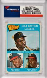 Roberto Clemente / Hank Aaron Pittsburgh Pirates / Milwaukee Braves1965 Topps #2 Card