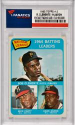 Roberto Clemente / Hank Aaron Pittsburgh Pirates / Milwaukee Braves1965 Topps #2 Card