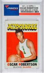 Oscar Robertson Milwaukee Bucks 1971-72 Topps #1 Card 1
