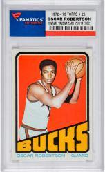 ROBERTSON, OSCAR (1972-73 TOPPS # 25) CARD - Mounted Memories