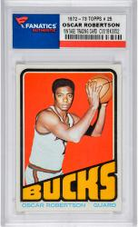 ROBERTSON, OSCAR (1972-73 TOPPS # 25) CARD - Mounted Memories
