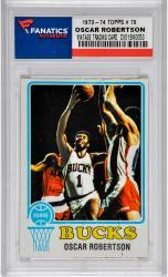 ROBERTSON, OSCAR (1973-74 TOPPS # 70) CARD - Mounted Memories