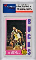 ROBERTSON, OSCAR (1974-75 TOPPS # 55) CARD - Mounted Memories