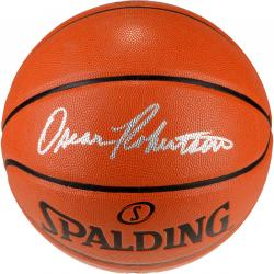 Oscar Robertson Autographed Indoor/Outdoor Spalding Basketball - Mounted Memories