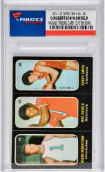 ROBERTSON, O./UNSELD, W.(1971-72 TOPPS TRIO STICKERS #34-36) - Mounted Memories