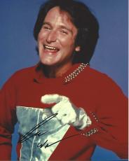 """ROBIN WILLIAMS as MORK in TV Series """"MORK & MINDY"""" (Passed Away 2014) Signed 8x10 Color Photo"""