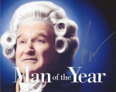 """ROBIN WILLIAMS as TOM DOBBS in 2006 Film """"MAN of the YEAR"""" Signed 8x10 Color Photo"""
