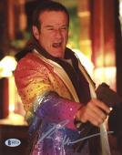 "Robin Williams Autographed 8""x 10"" Death to Smoochy Holding Gun Photograph -  Beckett COA"