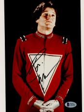"""Robin Williams Autographed 8""""x 10"""" Mork & Mindy Looking Up Photograph - BAS COA"""