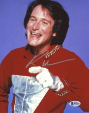 "Robin Williams Autographed 8""x 10"" Mork & Mindy Silver Glove Photograph -  Beckett COA"