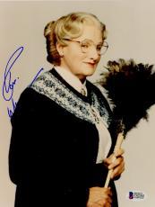 "Robin Williams Autographed 8""x 10"" Mrs. Doubtfire Duster Photograph - BAS COA"