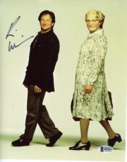 "Robin Williams Autographed 8""x 10"" Mrs.Doubtfire Dressed as Woman & Man Photograph -  PSA/DNA COA"