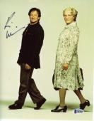 "Robin Williams Autographed 8""x 10"" Mrs.Doubtfire Dressed as Woman & Man Photograph -  Beckett COA"