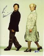"Robin Williams Autographed 8""x 10"" Mrs.Doubtfire Dressed as Woman & Man Photograph -  Beckett COA"