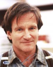 "Robin Williams Autographed 8""x 10"" Wearing Suspenders Photograph -  Beckett COA"
